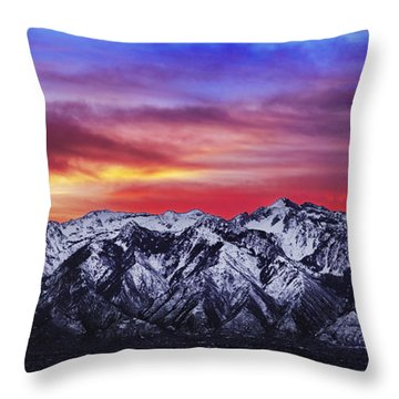Wasatch Sunrise 2x1 Throw Pillow by Chad Dutson
