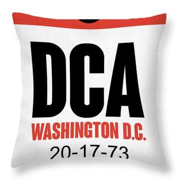 Washington D.c. Airport Poster 1 Throw Pillow by Naxart Studio