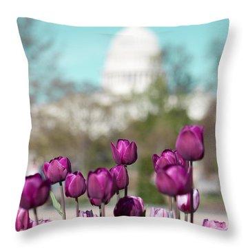 Washington Dc Throw Pillow by Kim Fearheiley