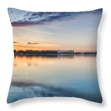 Washington Dc Panorama Throw Pillow by Sebastian Musial