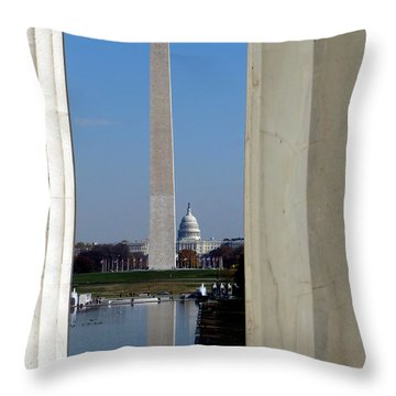 Washington Landmarks Throw Pillow by Olivier Le Queinec