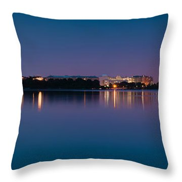Washington Skyline Throw Pillow by Sebastian Musial