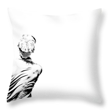 Watching And Hoping Throw Pillow by Karol Livote