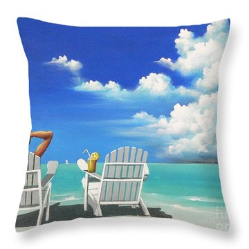 Watching Clouds Throw Pillow by Susi Galloway