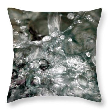 Water Throw Pillow by Henrik Lehnerer