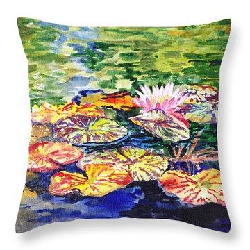 Water Lilies Throw Pillow by Irina Sztukowski