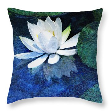 Water Lily Two Throw Pillow by Ann Powell