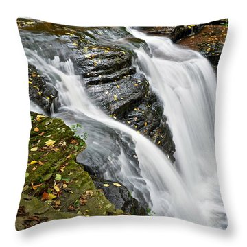 Water Rushes Forth Throw Pillow by Frozen in Time Fine Art Photography
