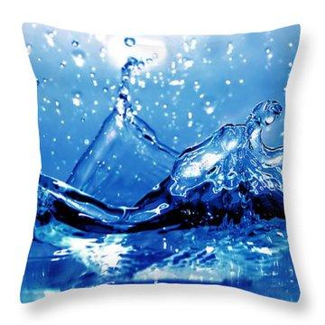 Water Splash Throw Pillow by Michal Bednarek