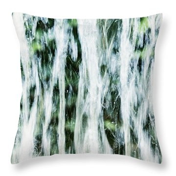 Water Spray Throw Pillow by Margie Hurwich