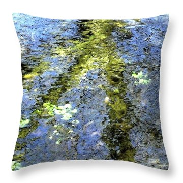Watercolor Blues Throw Pillow by Tami Quigley