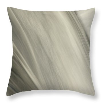Waterfall Abstract Throw Pillow by Karol Livote