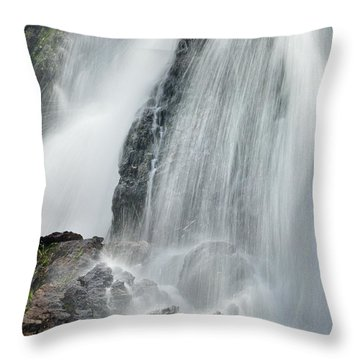 Waterfall In Spring Throw Pillow by Guido Montanes Castillo