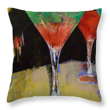 Watermelon Martini Throw Pillow by Michael Creese