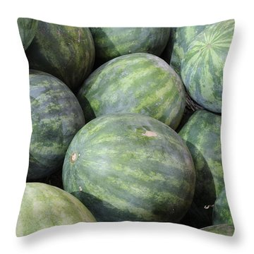 Watermelons Throw Pillow by Bradford Martin