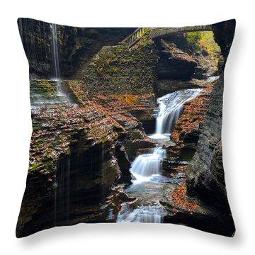 Watkins Glen Throw Pillow by Frozen in Time Fine Art Photography