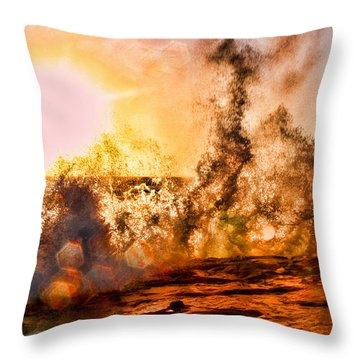 Wave Crasher La Jolla By Diana Sainz Throw Pillow by Diana Sainz