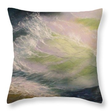 Wave Throw Pillow by Elena Sokolova