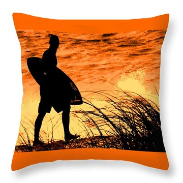Wave Search Throw Pillow by Ian  MacDonald