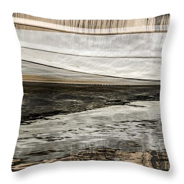 Wavy Reflections Throw Pillow by Sue Smith