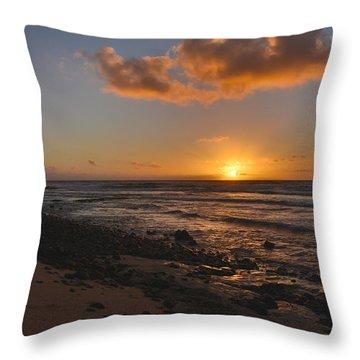 Wawamalu Beach Sunrise - Oahu Hawaii Throw Pillow by Brian Harig