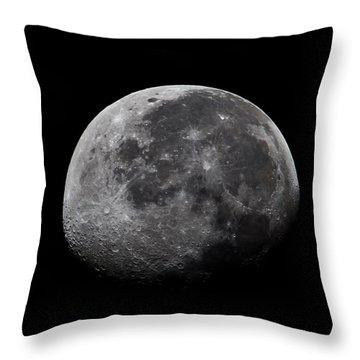 Waxing Moon Throw Pillow by Nila Newsom