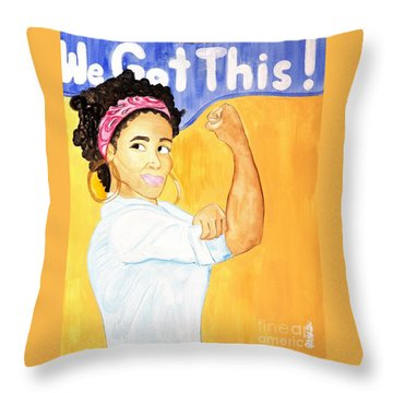We Got This Throw Pillow by Aliya Michelle