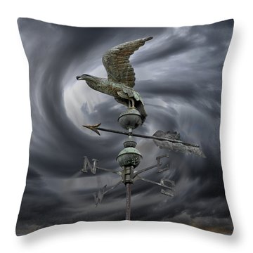 Weathervane Throw Pillow by Steven  Michael