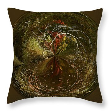 Weeping Branches Throw Pillow by Cindi Ressler