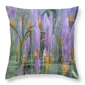 Weeping Flowers Throw Pillow by PainterArtist FIN