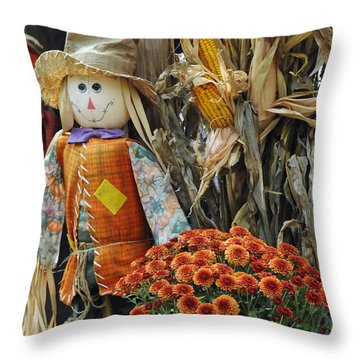 Welcome Fall Throw Pillow by Kenny Francis