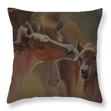 Welcome Party Throw Pillow by Mia DeLode