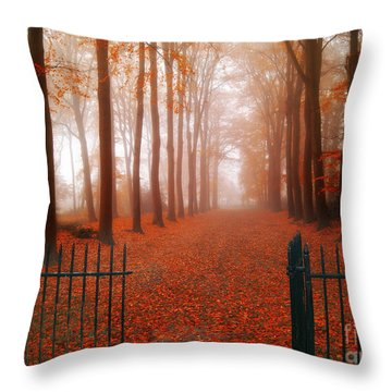 Welcome Throw Pillow by Jacky Gerritsen