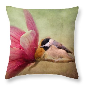Welcome Spring Throw Pillow by Jai Johnson
