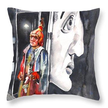 Welcome To The Czech Republic 01 Throw Pillow by Miki De Goodaboom