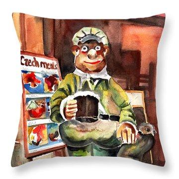 Welcome To The Czech Republic 04 Throw Pillow by Miki De Goodaboom
