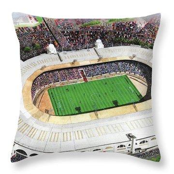 Wembley Stadium Throw Pillow by Kevin Fletcher