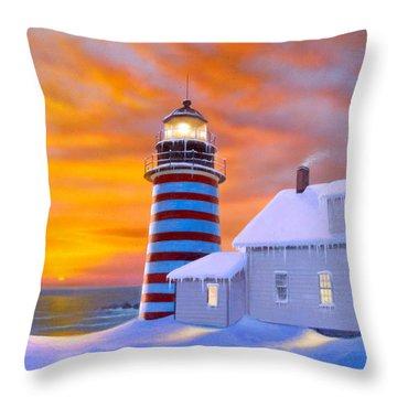 West Quoddy Throw Pillow by MGL Studio - Chris Hiett