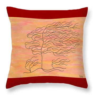 West Texas Wind Throw Pillow by Susie WEBER