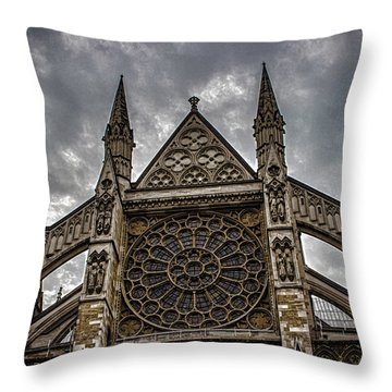 Westminster Abbey Throw Pillow by Martin Newman