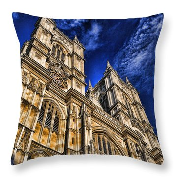 Westminster Abbey West Front Throw Pillow by Stephen Stookey