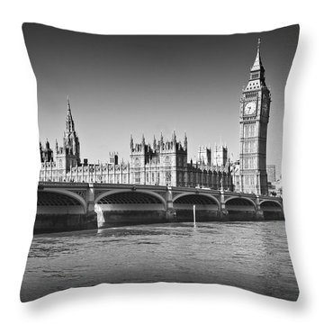 Westminster Bridge Throw Pillow by Melanie Viola