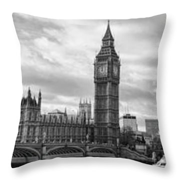 Westminster Panorama Throw Pillow by Heather Applegate
