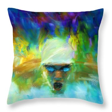 Wet And Wild Throw Pillow by Lourry Legarde