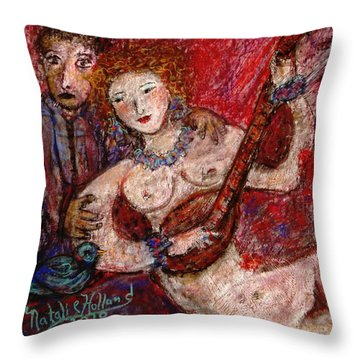 What Are You Looking At-12 Throw Pillow by Natalie Holland