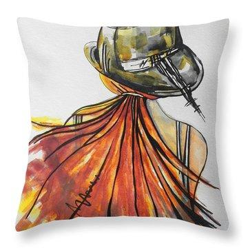What Lies Ahead Series  I Found Me Throw Pillow by Chrisann Ellis