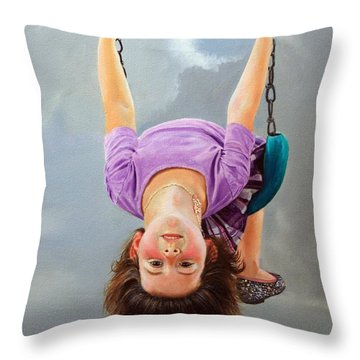 What's Up? Throw Pillow by Glenn Beasley