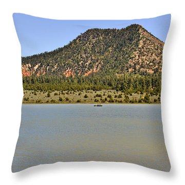 Wheatfields Lake - Chuska Mountains Throw Pillow by Christine Till