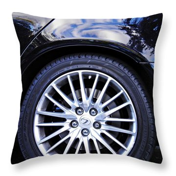 Wheel Throw Pillow by Sarah Loft