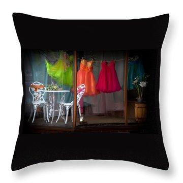 When A Woman Dreams Throw Pillow by Karen Wiles